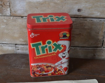 Vintage Trix Tin 1990's  Made In the USA