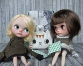 Blythe doll messenger tabby cat satchel - Ready to ship