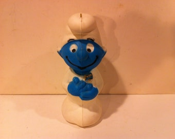 1982 Plastic Disney Smurf Bank