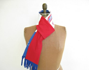 Philadelphia Phillies T Shirt Scarf Womens Scarves Tee Scarf Unisex Scarf Recycled T-Shirt Scarf Red White Royal Blue Cotton Scarf ohzie