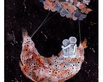 Constellation Art, Fine Art Print-carried through the cosmos