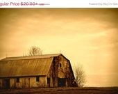 ON SALE Barn Photograph, Sunset Picture, Americana Art, Country Decor, Farmhouse decor, Americana, Old Barn Photos, Barn Picture, Yellow Sky