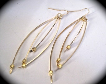 Jewelry designer inspired earrings in gold filled