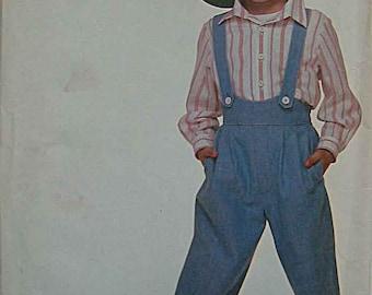 RARE Child's, Boy's Suspender Pants and Shirt, Simplicity 8369 Pattern UNCUT Sizes 3-5