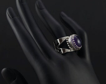 SHEILA - silver ring with amethyst