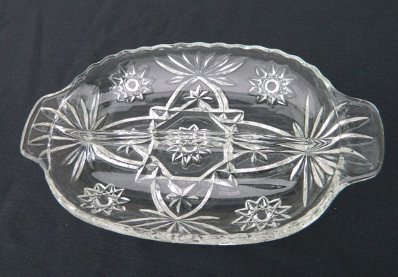 Items Similar To Anchor Hocking Star Of David Pattern Oval