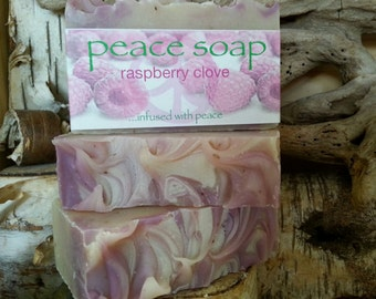 raspberry clove peace soap