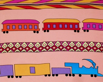 Art on Silk Trains for Young Child Art Print 50 percent off