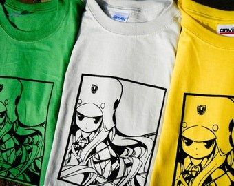Genshiken Kujibiki Unbalance Inspired Screenprinted T-Shirt