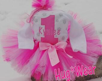 Pink Winter One-derland Wonderland Custom Birthday tutu Outfit  (any age)