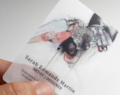 250 Business Cards - Opaque or frosted plastic stock - 20 PT Thick - full color - free rounded corners