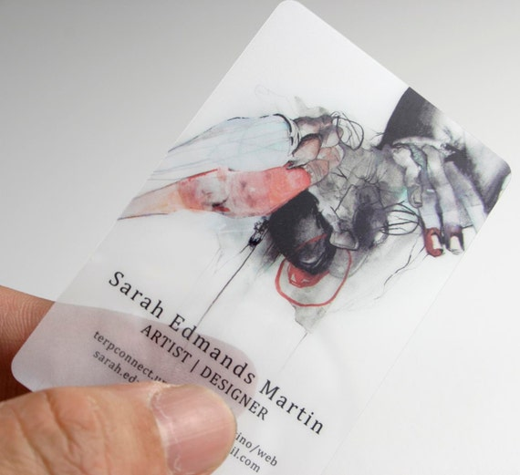 250 Business Cards Opaque or frosted plastic stock 20 PT