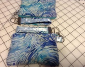 Price Reduced Cellphone Smart phone Wristlet with matching detachable keychain, key fob, keyfob