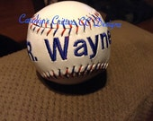 Custom Embroidered Baseball
