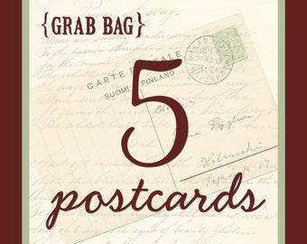 Grab Bag - 5 Postcards