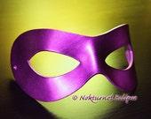 Purple Superhero Leather Mask Superhero Masquerade Batman Halloween Marvel Comic Con Cosplay Costume UNISEX - Available Any Basic Color