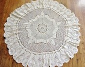 "40"" Round Knitted Tablecloth"