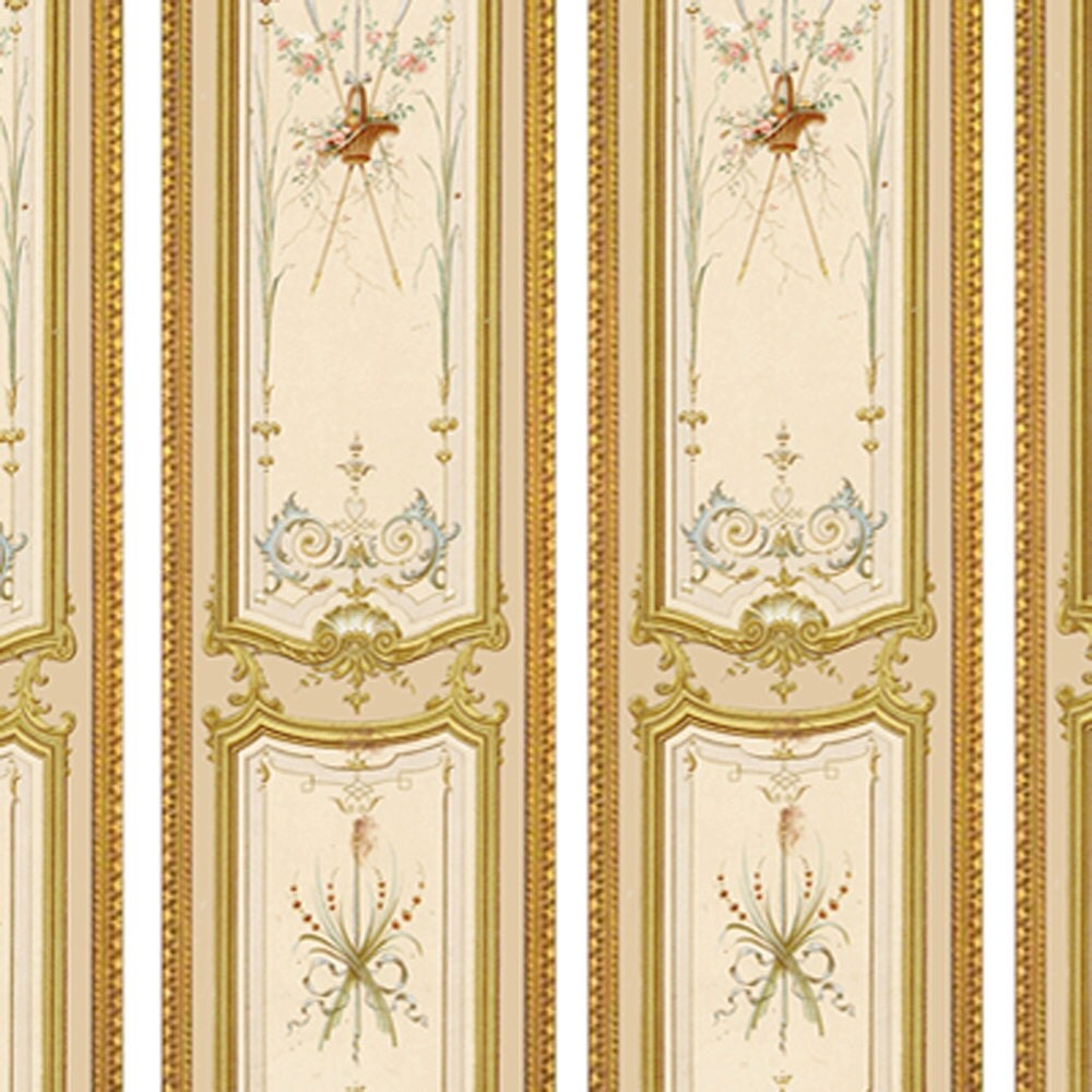 Victorian Wall Panels Wallpaper 1 12th Or 1 24th Scale 03