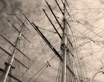 Cutty Sark Greenwich England London Sepia Photograph - Free Shipping in US -