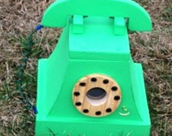 Telephone Birdhouse  BUILT TO ORDER