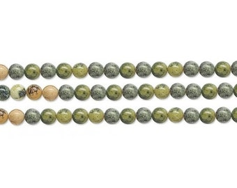 Round Yellow Turquoise Bead 8mm 16 Inch Strand