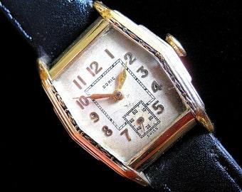 Doric Stepside Swiss Watch with Filigree - c.1940's