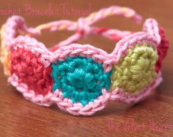 CROCHET PATTERN,Crochet Bracelet Pattern, Crochet Jewelry Tutorial- Instant Digital Download (2)