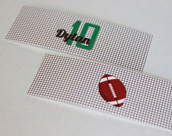Football party napkin wrap, utensil wrap - football birthday napkin, cutlery wrap, tailgate party, superbowl party, football buffet
