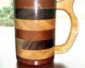 Handcrafted Wood Mug Trio of Wood 20 oz Tankard, Wood Beer Stein, Wood Tankard, Drinking Vessel, Wood Beer Mug, Stein