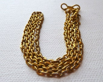 Gold Plated Cable Chain Necklace  - 18 inches  -  Afghanistan