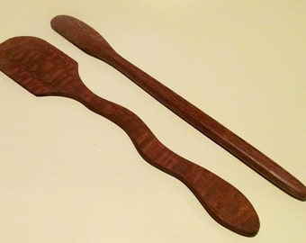 Leopardwood Medium and Small Spatulas