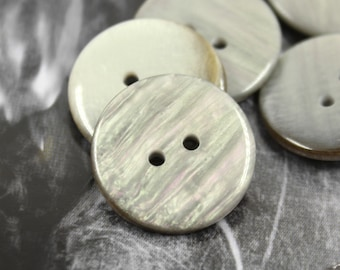 Specia Plastic Buttons - 10 Pieces of Rich Luster Shell Texture Plastic Buttons, 0.87 inch