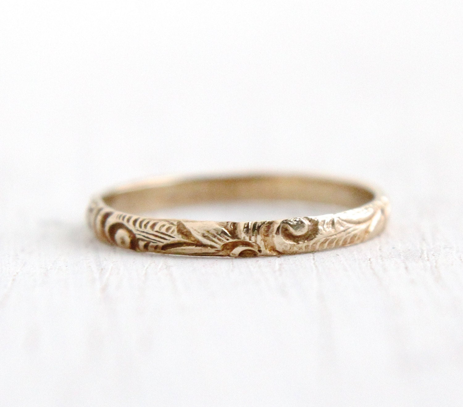 antique 10k yellow gold baby ring deco 1930s size 2 1 4