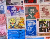 Time To Shave 50 Vintage Moustache and Bearded Gents Postage Stamps Goatee Extreme Facial Hair Barber Old Men Father US Worldwide Philately