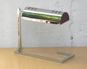 Vintage Modern Architectural Chrome Cantilever Desk Lamp