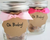 Fleur de Sel Caramel GIRL Baby Shower Favors - 15 Guests