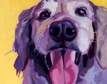 A Golden Retriever's Joy Pet Portrait