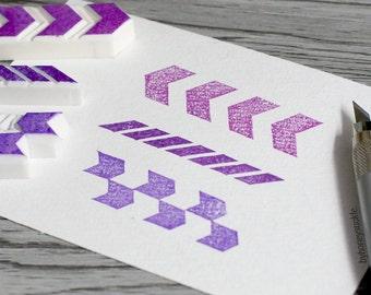 chevron rubber stamp, geometric stamp, stripes stamp, chevron pattern stamp, herringbone rubber stamp, border stamp, pattern rubber stamp