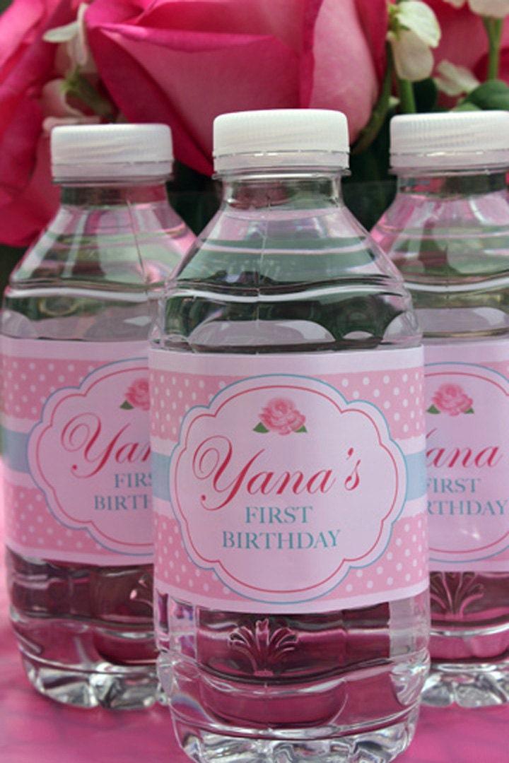 Favorit Étiquettes personnalisée pour bouteille d'eau Chic minables QE99
