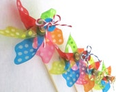 Rainbow Bright Pinwheels or Spinning Pinwheel Cupcake Toppers or Pinwheel Favors for birthday party baby shower or Bat Mitzvah