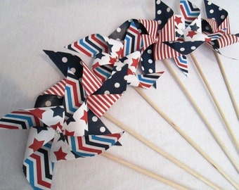 July 4th Favors 4th of July Party Favors Fourth of July Favors Paper Pinwheels Fourth of July Party Favors 4th of July Pinwheels Stars