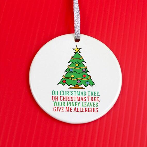 Christmas Ornament Allergy Christmas Ornament Christmas