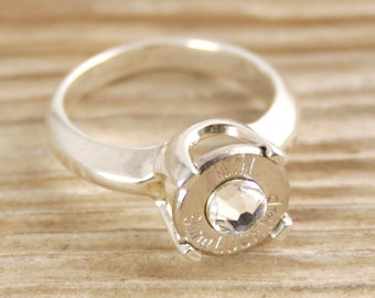 Bullet Ring / 9mm Cathedral Style Sterling Bullet Ring WIN-9MM-N/B-CATR / Sterling Silver Ring / Sterling Silver Bullet Ring / Custom Ring
