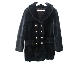Faux Fur Double Breasted Jacket size - M/L