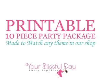 MADE to MATCH PRINTABLE 10 Piece Party Package (Any theme in our shop)