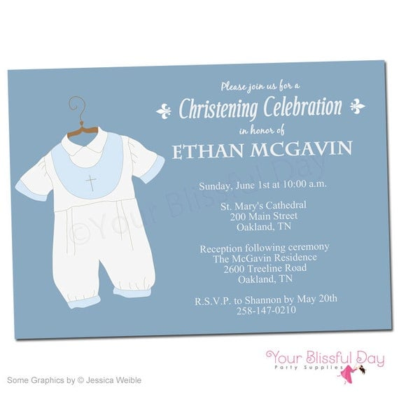 Printable baby boy christeningbaptism party invitations 601 by il570xn stopboris Image collections