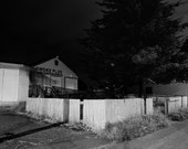Dead of Night Series, Seattle Washington, Black and White Photography - 11x14 Print in a 16x20 Wood or Metal Frame