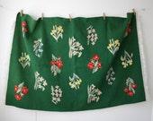 Green Botanical Wool Rug