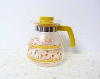 Vintage Diner Glass Coffee Carafe Coffee Pot