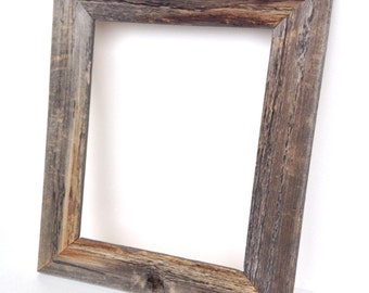 Real Barn Wood Rustic Frame - Home Decor - Picture Frame